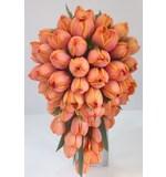 Orange Tulip Teardrop Bouquet
