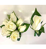 Matching Set White Roses