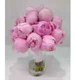 Pink peonie wedding bouquet