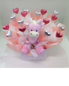 Pink Giraffe Chocolate Bouquet