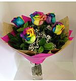 Rainbow Rose 6 bouquet