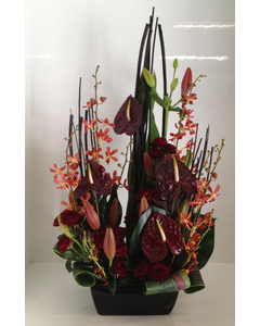 Tropical Arrangement in Reds