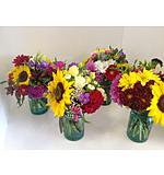Bright vintage vases