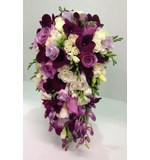 Teardrop of mixed purples and whites
