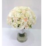Vendela & White Rose, Lianthus, Freesia Posy