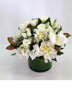 A White Vase Arrangement