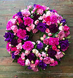 Wreath of Purples and Pinks