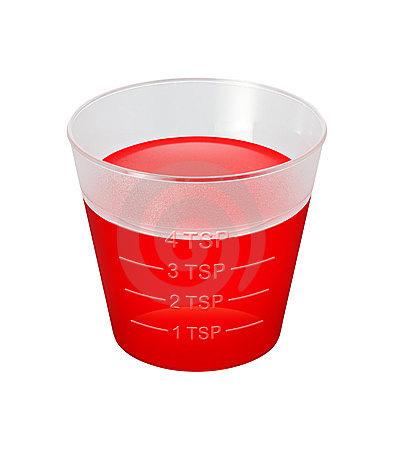 Medicine in cup