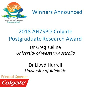 ANZSPD-Colgate Research Award Winners