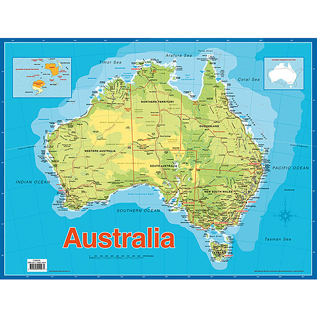 Buy Map Of Australia.Map Of Australia Educational Chart Charts Educational Teaching
