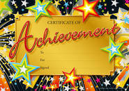 Achievement (100) CARD Certificates.