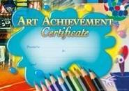 Art Achievement (200) Paper Certificates