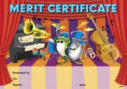 Music (200) Paper Certificates