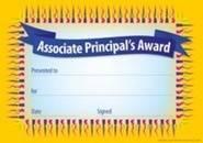 Associate Principal Award (35) Paper Certificates