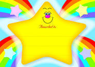 Rainbow Star (20) CARD Certificates