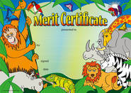 Wild Jungle Award (35) Paper Certificates.