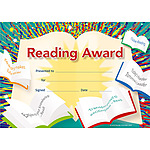 Reading Award (200) Paper Certificates  NEW 2017
