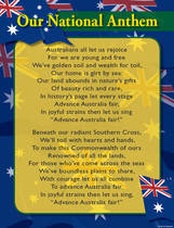 Australian National Anthem Educational Chart