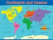 Continents and Oceans Educational Chart