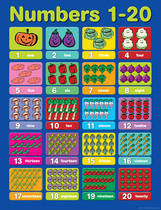 Numbers 1 - 20 Educational Chart
