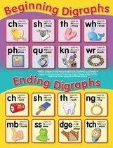 Begin/End Digraphs Educational Chart