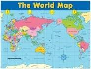The World Map Educational Chart
