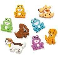 Dogs and Frogs (100) Erasers Discontinued