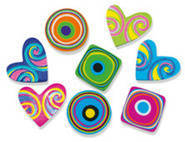 Hearts and Swirls (100) Erasers.