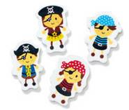 Little Pirates (20)  Erasers.