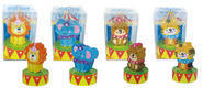 Circus (4) Erasers with Sharpeners
