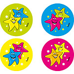 Stars Fluoro Stickers (96) NEW LOOK 2017