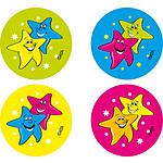 Stars Fluoro Stickers