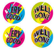 Very Good, Well Done Fluoro Stickers (96)