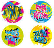 Encouragement Fluoro Stickers (96)