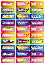 Excellent, Outstanding Foil Stickers (90)