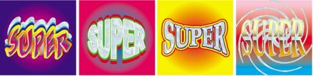 Super (72) Foil Stickers (Old Design)