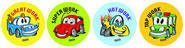 Crazy Cars Merit Stickers (96)