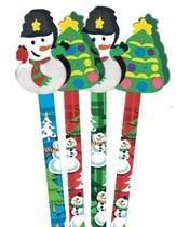 Snowman Pencil Toppers (6)