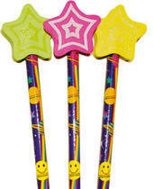 Shooting Stars Pencil Toppers (6)