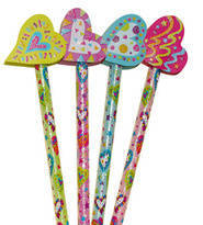 Hearts Pencil Toppers (6)