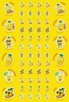 Scented Pineapple Scentsations Stickers (180)