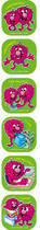 Good Behaviour Scented Shape Stickers (72)