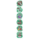 Choc Mint Scented Shape Stickers (72) NEW 2017