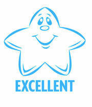 Excellent Star Merit Stamp (Blue Colour)