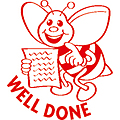 Well Done Bee Merit Stamp