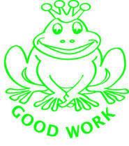 Good Work Frog Merit Stamp