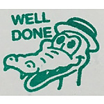 Well Done Crocodile Merit Stamp