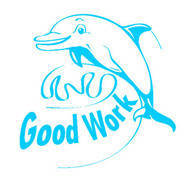 Good Work Dolphin Merit Stamp
