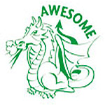 Awesome Dragon Merit Stamp NEW 2017