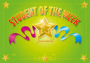 Student of the Week (200) Paper Certificates